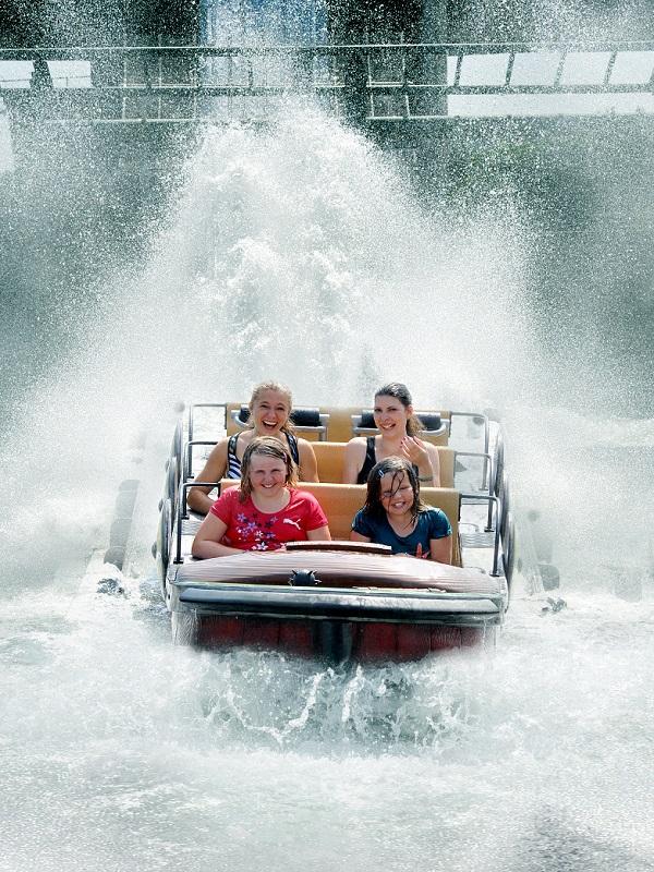 """The white-water ride """"Zum Rittersturz"""""""